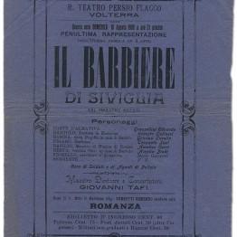 Vecchia Locandina Il Barbiere di Siviglia
