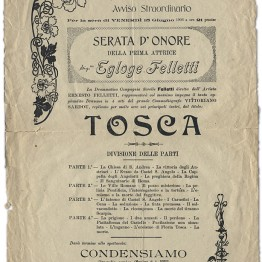 Vecchia Locandina Tosca