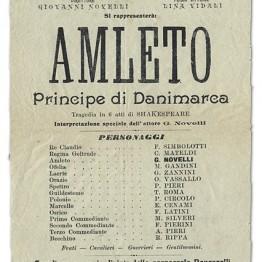 Vecchia Locandina Amleto