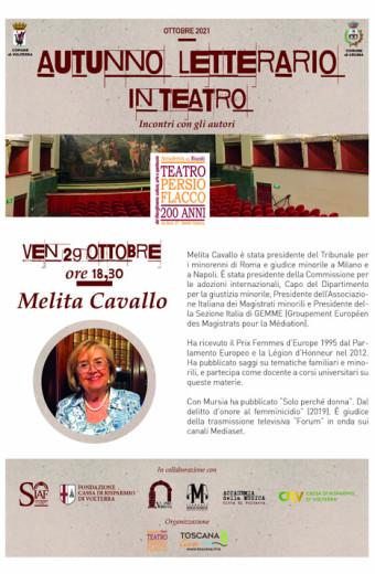Incontro con Melita Cavallo - Autunno letterario in Teatro